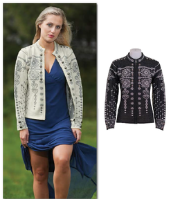 Maud. Ladies Lightweight Zipped Cardigan
