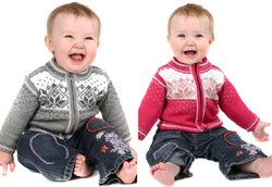 STJERNE - Children's Norwegian Cardigan with zip