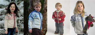 Kids Cardigan with Reindeer Pattern.