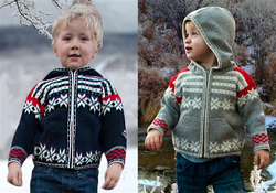 559  FANAFJELLET  Childrens Cardigan with Hood and Zip front