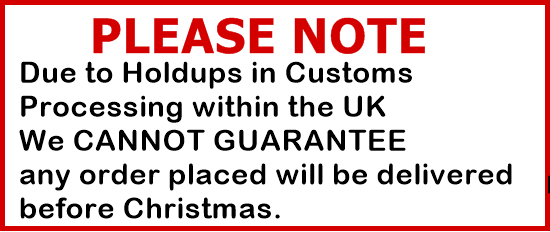 Christmas holdups on orders placed due to UK customs
