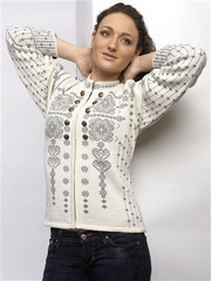 Maud Cardigan in Off white colour
